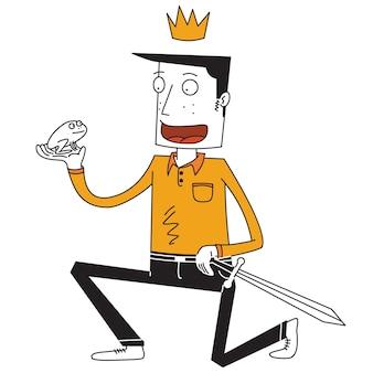 Príncipe feliz y rana