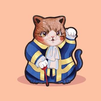 Príncipe lindo gato divertido disfraz de halloween