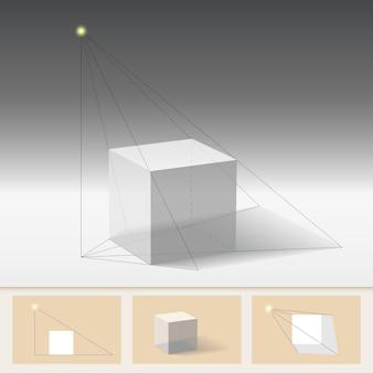 Principio de construir la sombra.