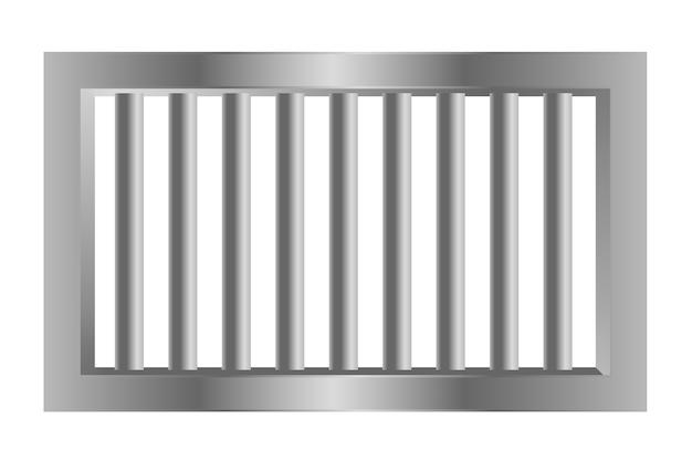 Prisión de la cárcel barras de acero hechas con metal
