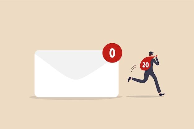 Privacidad de datos, concepto confidencial de correo electrónico personal.