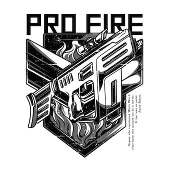 Pro fire blanco y negro