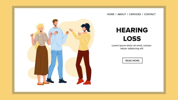 Problema de pérdida auditiva comunicación de personas