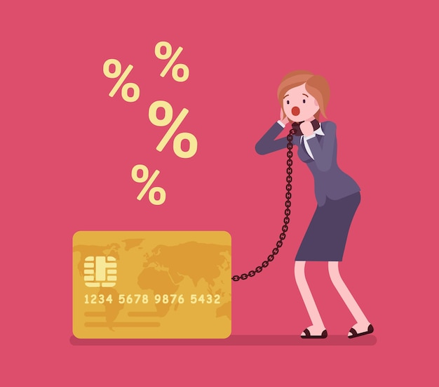 Problema de tasa de porcentaje del titular de la tarjeta de crédito femenina