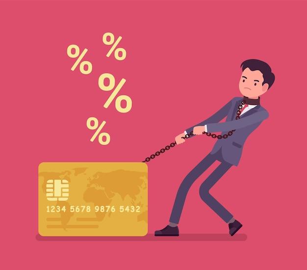 Problema de tasa de porcentaje del titular de la tarjeta de crédito masculino