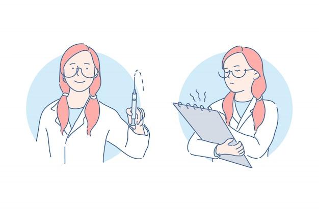 Procedimientos médicos y concepto de examen
