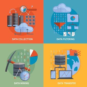 Procesamiento de datos 2x2 concept
