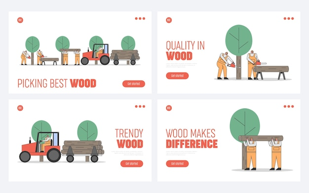 Proceso de corte, transporte de árboles.