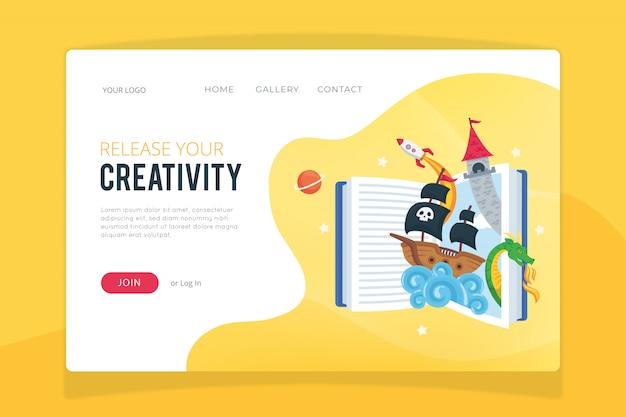 Proceso creativo plantilla de página de destino