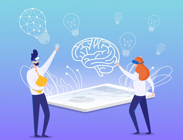 Proceso de realidad virtual y creación de ideas de briefing
