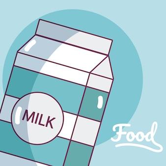 Producto de bebida de caja de leche