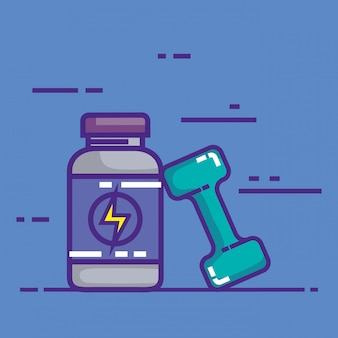 Producto de botella energética con dumbell