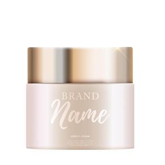 Producto cosmético de belleza natural realista 3d para el cuidado facial aislado