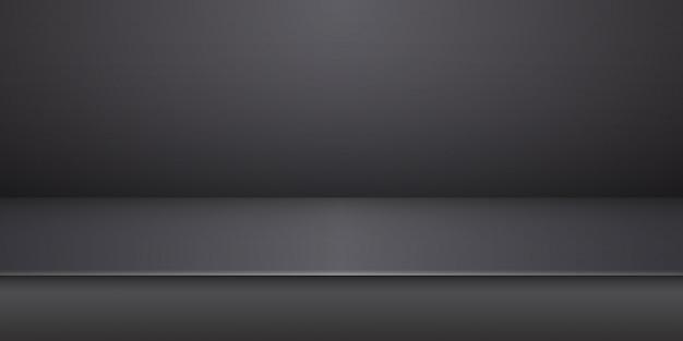 Producto estudio negro vacío exhibición mesa fondo sala