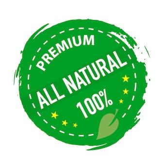 Producto natural estampado color verde.