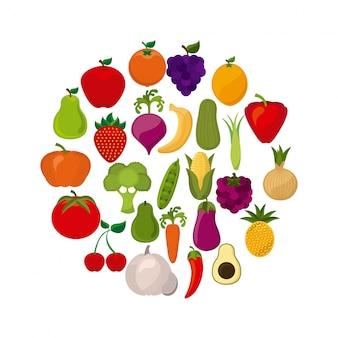 Producto orgánico sobre fondo blanco ilustración vectorial