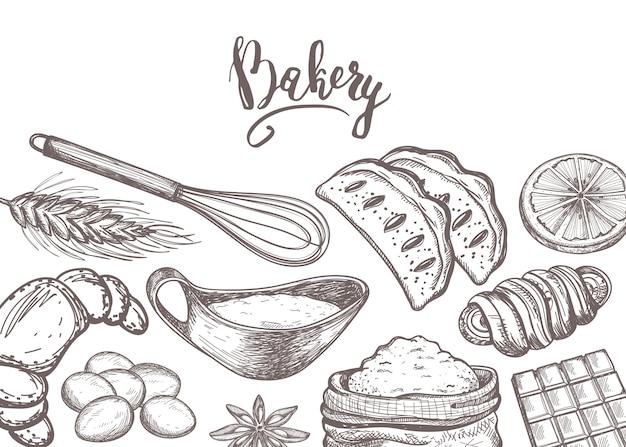 Producto de panadería casera vintage