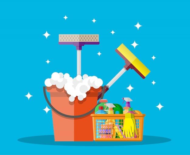 Productos y accesorios para la limpieza del hogar.