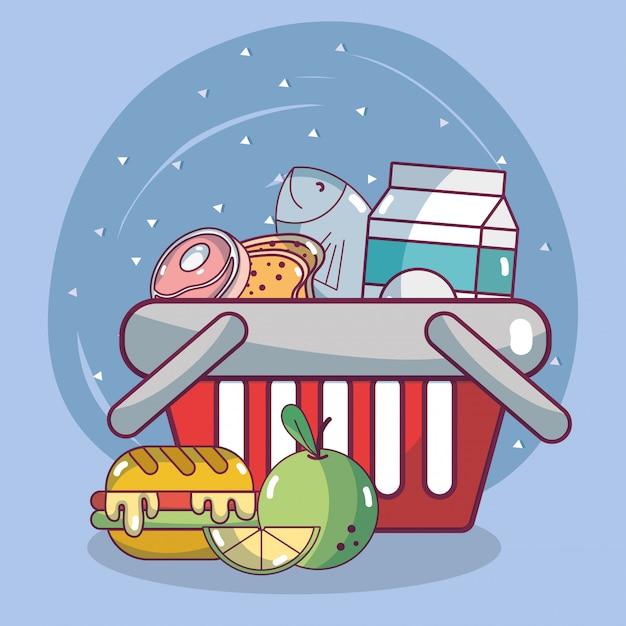 Productos alimenticios de supermercado.