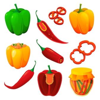 Productos alimenticios y vegetales de pimienta