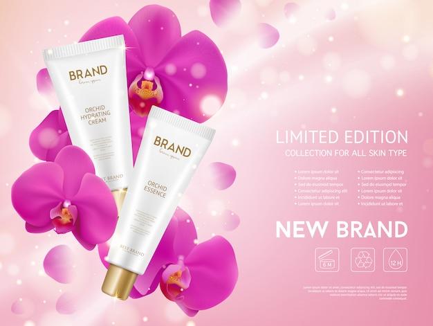 Productos de cosmética esencia de orquídea
