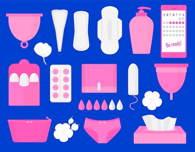 Productos de higiene para la mujer.