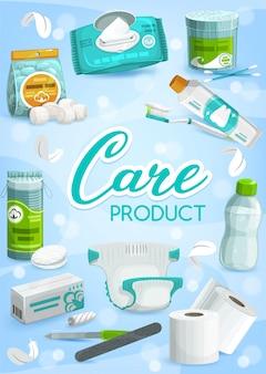 Productos de higiene personal y cuidado de la salud.