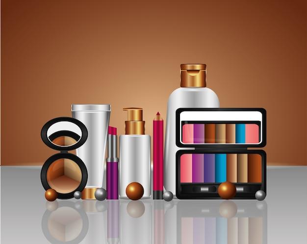 Productos de maquillaje cosmético del tubo de crema de aerosol