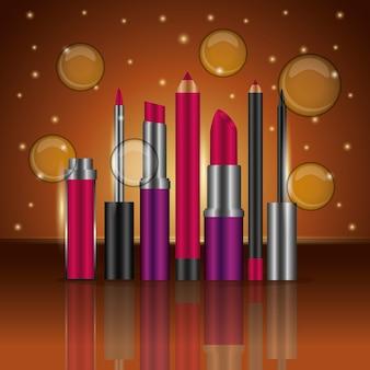 Productos de maquillaje cosmético