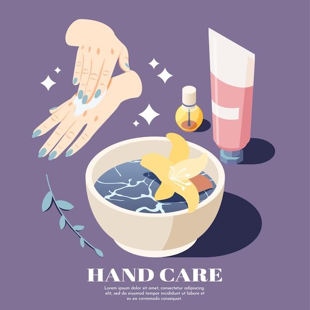 Productos naturales para el cuidado de la piel publicidad illsutration