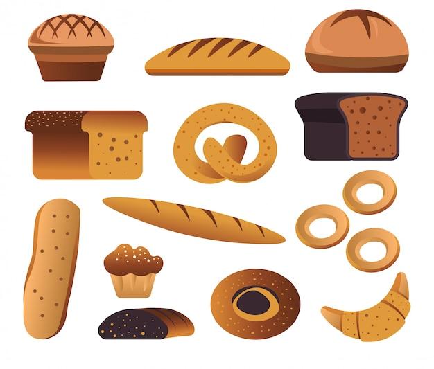 Productos de panadería, pan y pastelería.