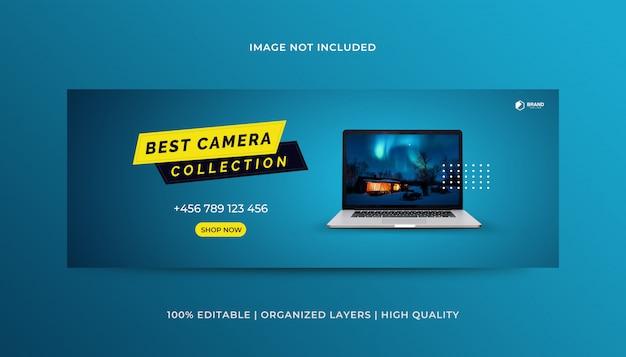 Productos plantilla de diseño de portada de facebook