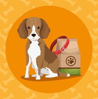 Productos de tienda de mascotas establecen iconos
