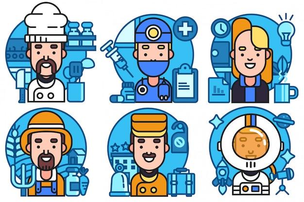 Profesión avatar vector