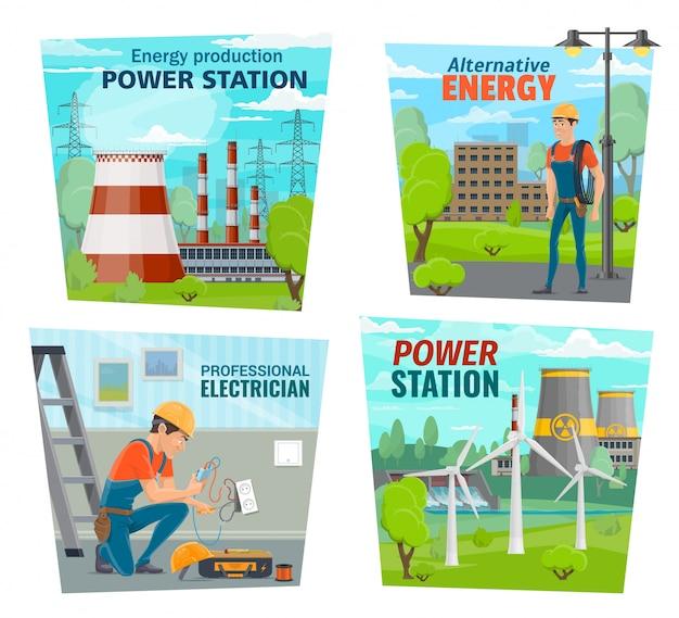 Profesión de electricista, industria de generación de energía.
