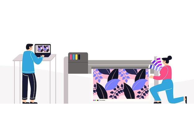 Profesión de la industria de la impresión plana