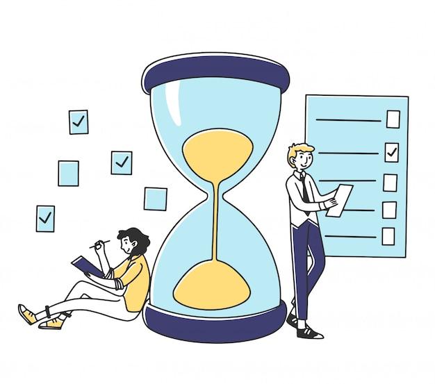 Profesionales que planean tareas de proyectos