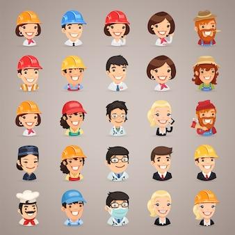 Profesiones vector personajes iconos conjunto