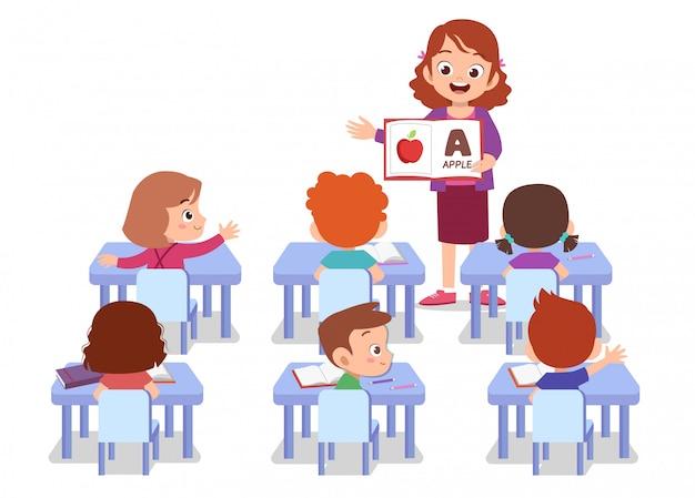 Profesor con alumno aislado