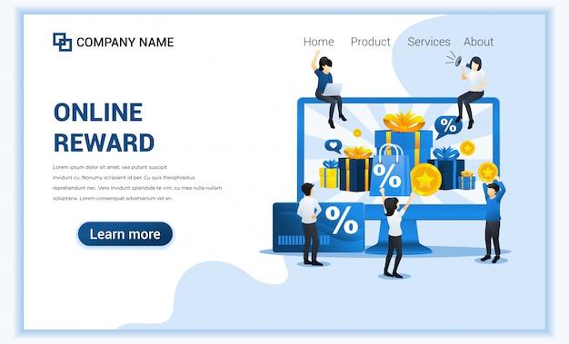 Programa de fidelización de clientes y concepto de recompensas, caja de regalo, puntos y bonificaciones.