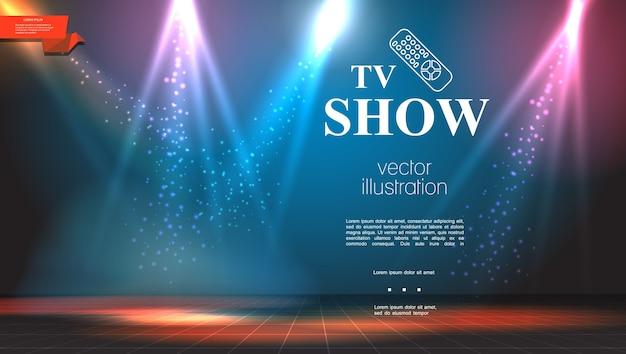 Programa de televisión de colores brillantes de fondo
