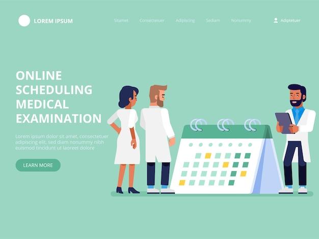 Programación de exámenes médicos en línea