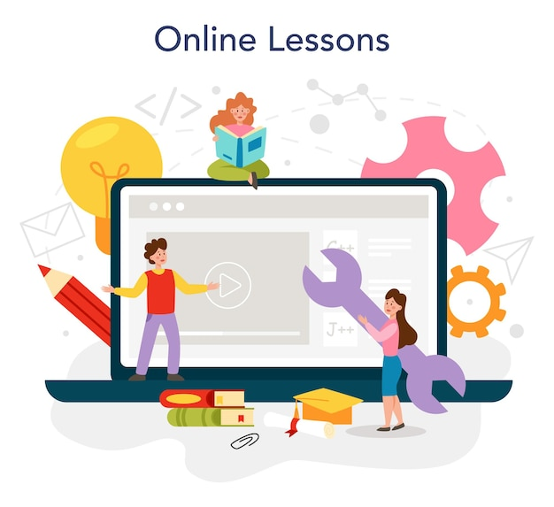 Programación de servicios en línea o plataforma de educación en ti