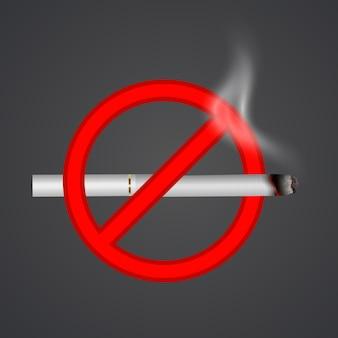 Prohibido fumar letrero rojo