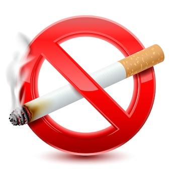 Prohibido fumar señal roja