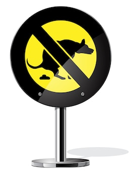 Está prohibido pasear perros
