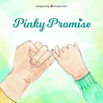 Promesa de meñique en estilo hecho a mano
