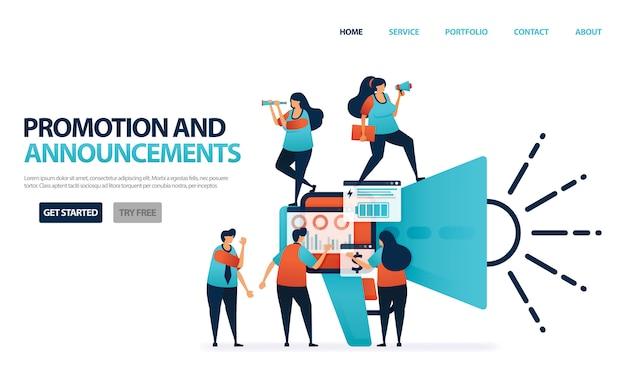 Promoción y anuncio para negocios de marketing multinivel, las personas se unen para recomendar a un amigo o programa de referencia