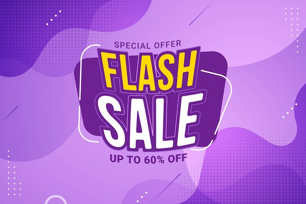 Promoción de banner de oferta especial de descuento de venta flash