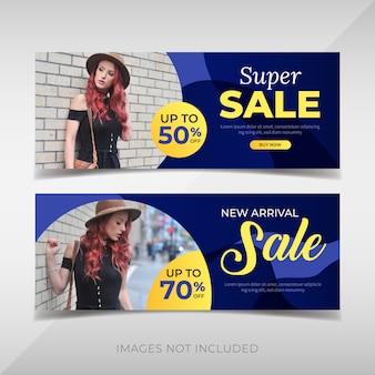Promocion de banners de moda